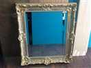 Custom Beveled Mirror in Picture Frame